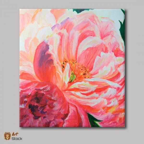 """Картина на холсте """"Розовый цветок"""""""