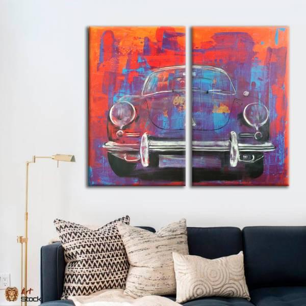 Картина на холсте Ретро VW Жук - ArtStock