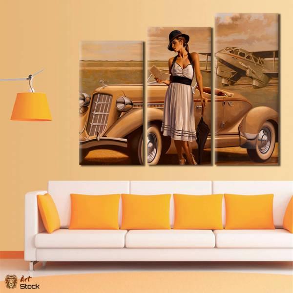 Картина на холсте Девушка у авто - ArtStock