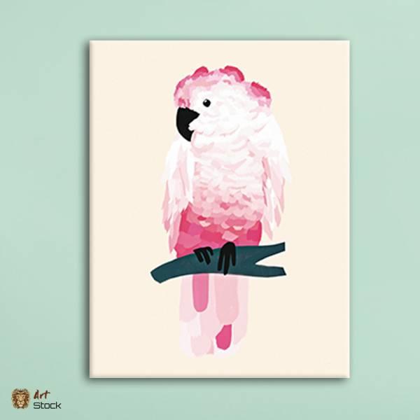 "Картина на холсте ""Попугай"""