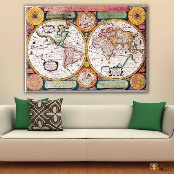 Картина на холсте Карта Мира - ArtStock