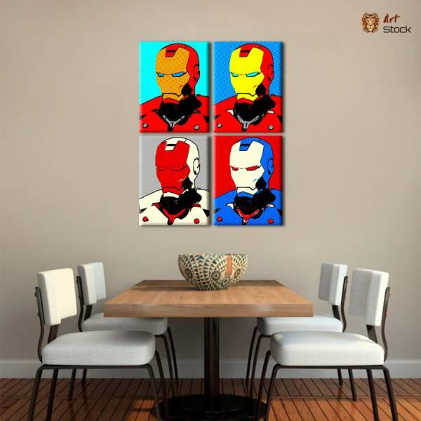 """Картина на холсте """"Iron Man x 4"""""""