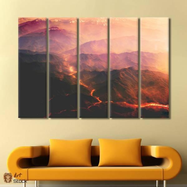 """Картина на холсте """"Лава в горах"""""""