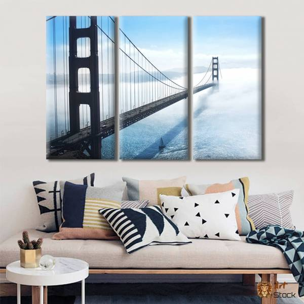 "Картина на холсте ""Мост в дымке"""
