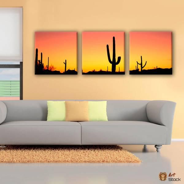 Картина на холсте Кактусы на закате - ArtStock