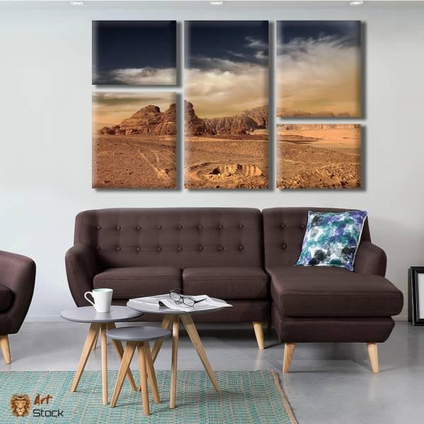 """Картина на холсте """"Горы в пустыни"""""""