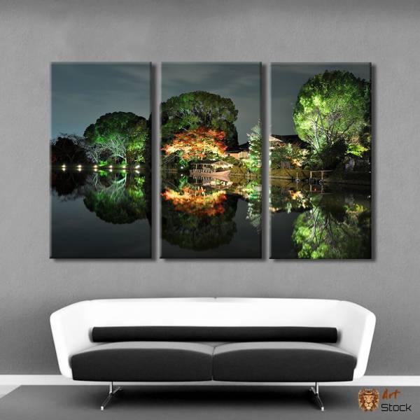 """Картина на холсте """"Романтическое озеро"""""""