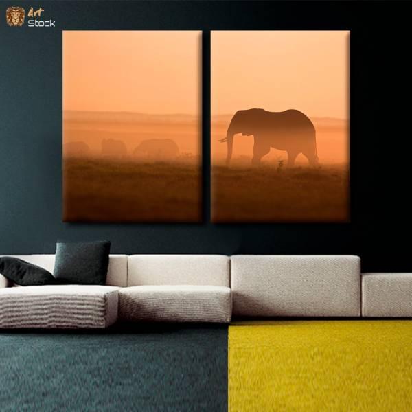 "Картина на холсте ""Слон идущий"" - ArtStock"