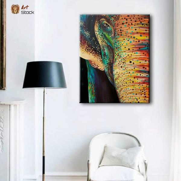 """Картина на холсте """"Слон яркий"""""""