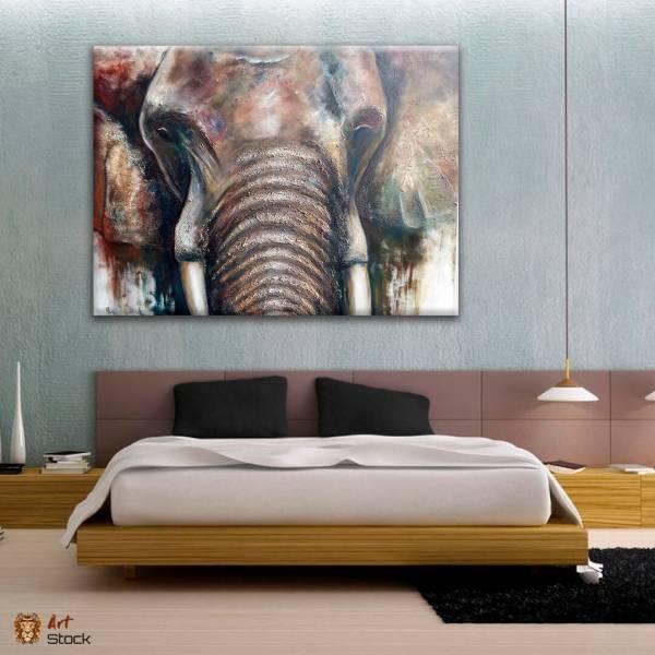 Картина на холсте Слон вблизи - ArtStock