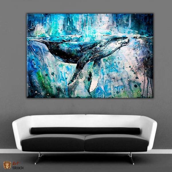Картина на холсте Голубой кит - ArtStock